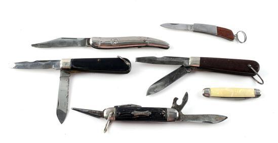 LOT OF 6 ASSORTED FOLDING POCKET KNIVES