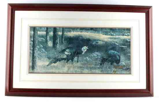 WILD TURKEY ART PRINT SIGNED LIMITED EDITION