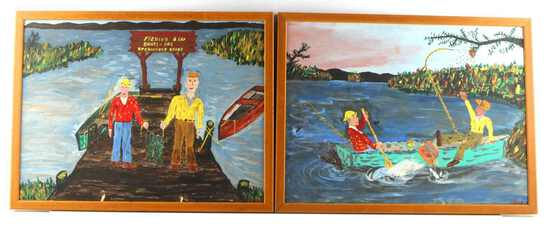 ORIGINAL SOUTHERN COMEDY FOLK ART PAINTINGS