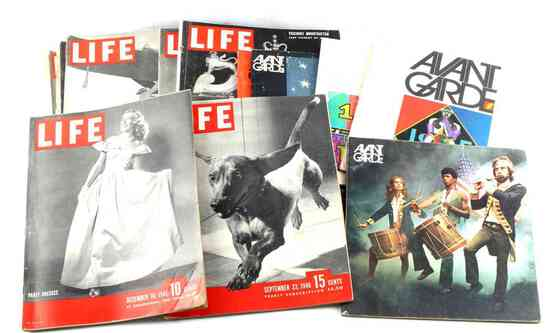 14 ANTIQUE TIME LIFE & AVANT GARDE MAGAZINE LOT
