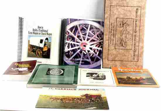 8 WESTERN PIONEER CARRIAGE CONSTRUCTION BOOKS