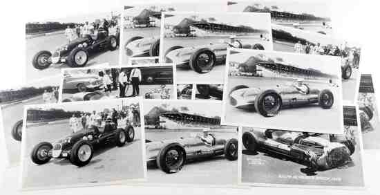 LOT OF 15 VINTAGE INDY RACECAR PHOTOGRAPHS