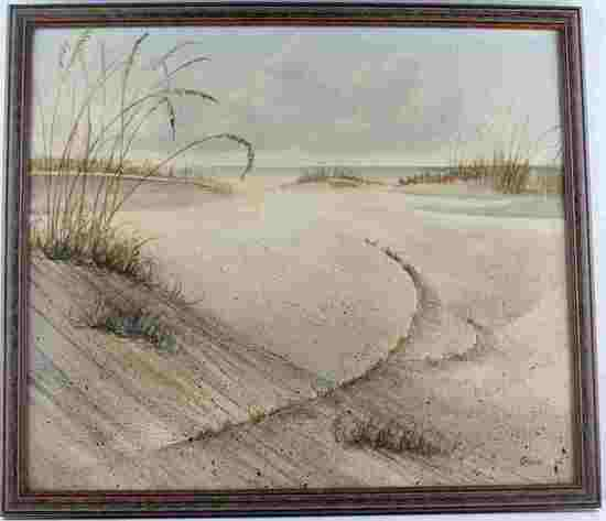 DEAN GIOIA ORIGINAL FLORIDA BEACH PAINTING