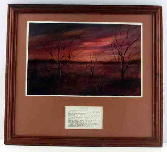 DEAN GIOIA  DECEMBER SUNSET LANDSCAPE OIL PAINTING