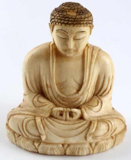MEDITATING BUDDHA JAPANESE MEIJI PERIOD OKIMONO