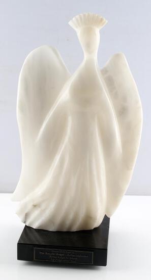 RAPLH HURST ITALIAN ALABASTER MODERNIST ANGEL