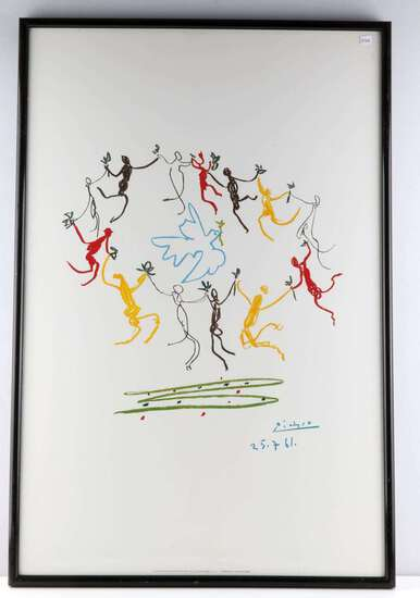PABLO PICASSO VINTAGE LITHOGRAPH DANCE OF YOUTH