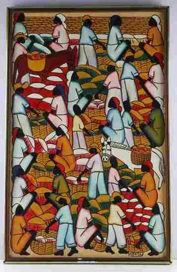 MONTAS ANTOINE ORIGINAL HAITIAN FOLK ART PAINTING