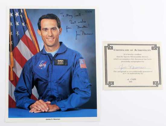 US NASA SIGNED PHOTOGRAPH ASTRONAUT NEWMAN W COA