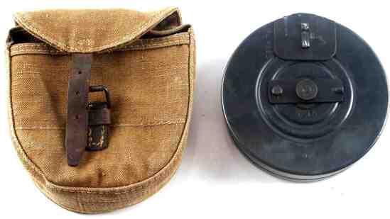 WWII SOVIET RUSSIAN PPSH 41 MAGAZINE DRUM & CASE