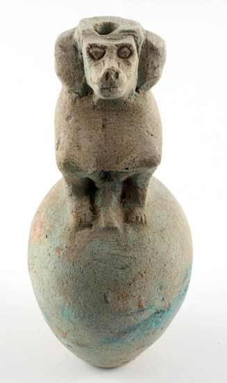 ANCIENT EGYPTIAN NEW KINGDOM BABI BABOON VESSEL