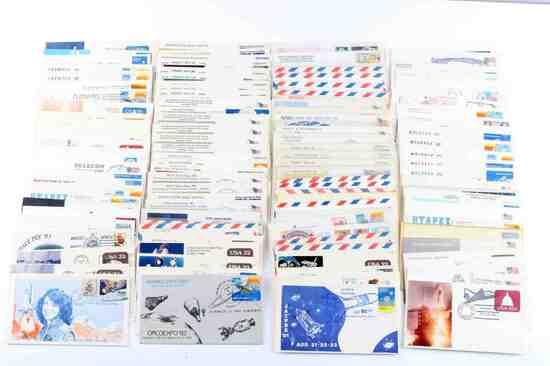 US GROUPING OF 120 SPACE COVERS & ENVELOPES