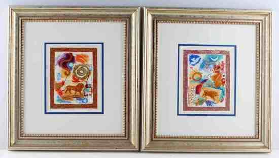 2 MODERN ART ZODIAC LIMITED EDITION PRINTS