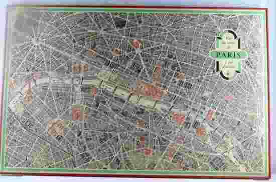 VINTAGE 1958 MID CENTURY CITY OF PARIS MAP