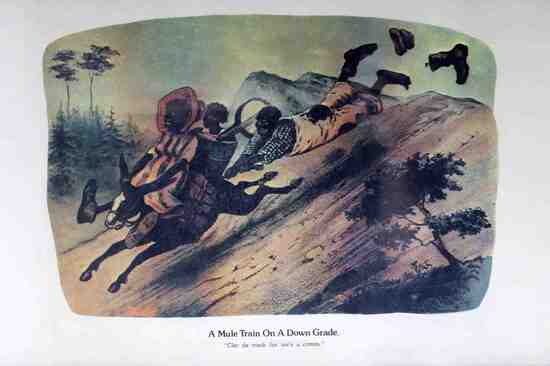 BLACK AMERICANA CURRIER & IVES DARKTOWN PRINT