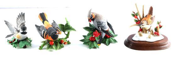 LENOX PORCELAIN ORIOLE WREN & BIRD FIGURINES