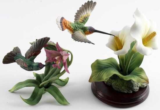 LENOX & PORCELAIN HUMMINGBIRD FIGURINES