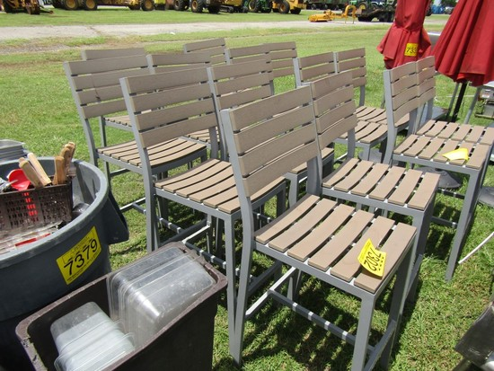 LOT OF 7 OUTDOOR BAR CHAIRS