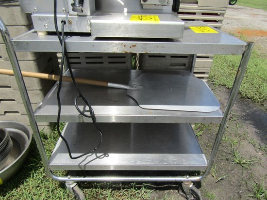 STAINLESS 3 TIER ROLLING CART