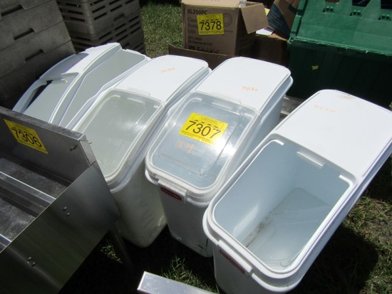 LOT 4 DON FOOD STORAGE BINS