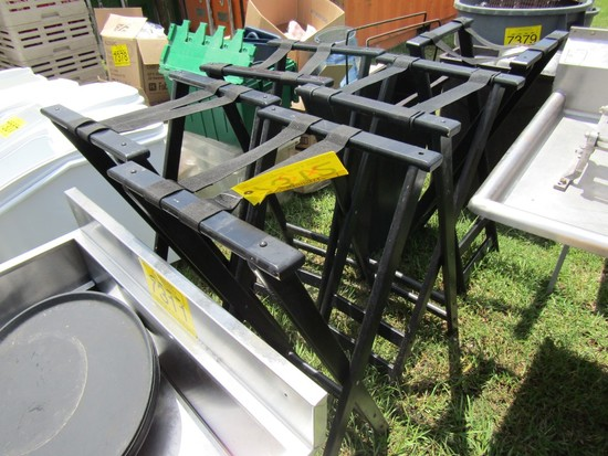 LOT 5 SERVING TRAY STANDS