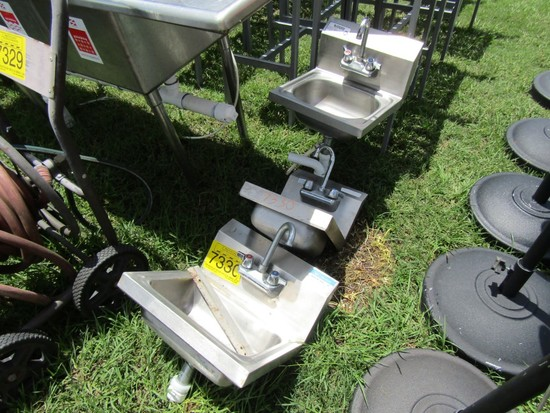LOT 2 STAINLESS HAND WASHING SINKS