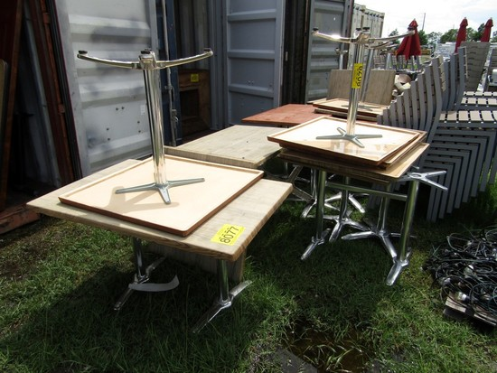 (7) OUTDOOR RECTANGLE TABLES