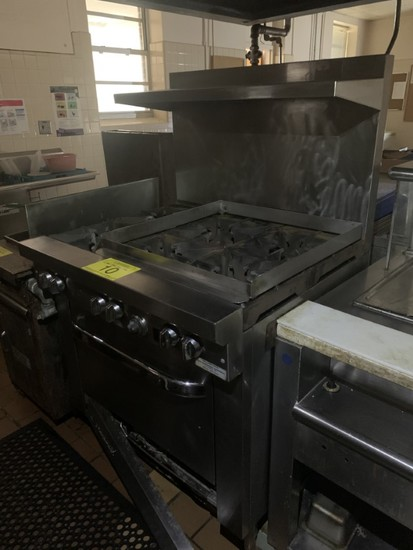 SOUTH BEND 6 RANGE GAS STOVE/OVEN