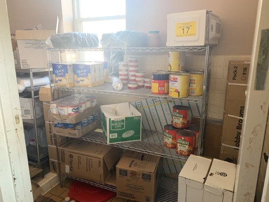 FULL CONTENTS OF DRY GOODS PANTRY