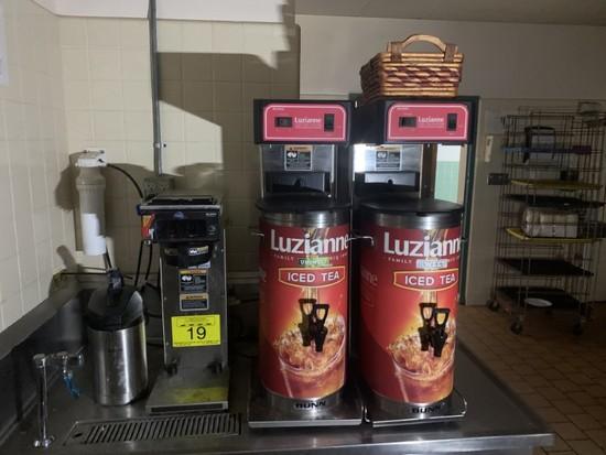 BUNN TEA & COFFEE DISPENSERS