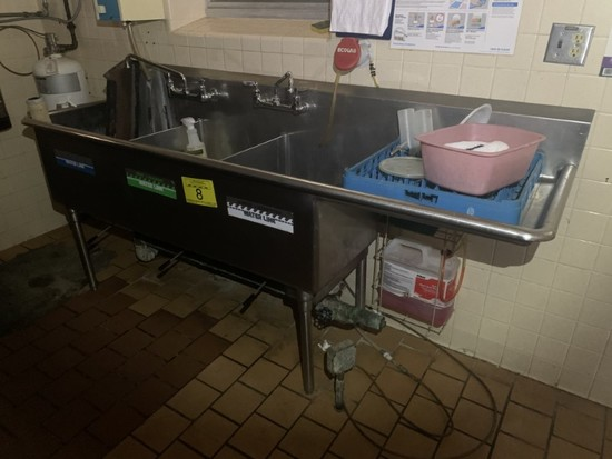STAINLESS STEEL 3 STALL SINK