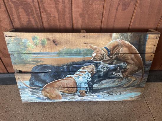 FLORIDA HOG HUNTING PALLET ART