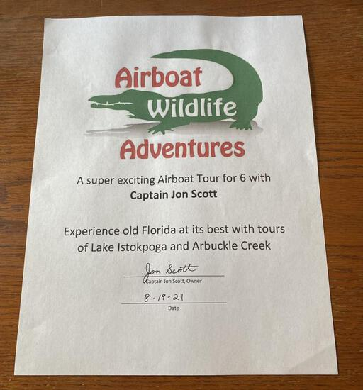 Airboat Tour Lake Istokpoga & Arbuckle Creek