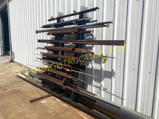 STEEL RACK W/SCRAP STEEL