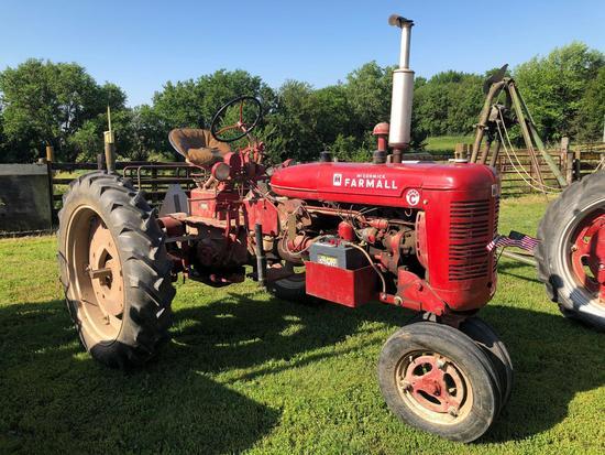 Farmall Super C Narrow Front Tractor, Gas, SN:132985