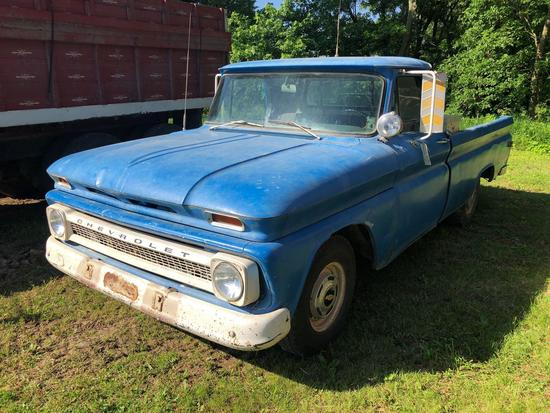 1966 Chevrolet 1/2 Ton Pickup, Gas, 42,064 Miles, Same owner last 36 years!