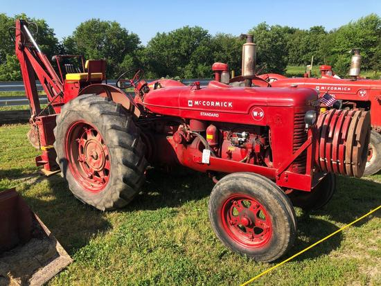 Farmall W-9 Standard Wide Front Tractor with Backhoe Attachment, Weights