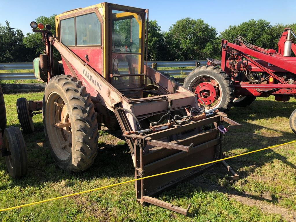 Farmall M Wide Front Tractor, Reversed for Bale Spear Attachment, Gas, SN:39169