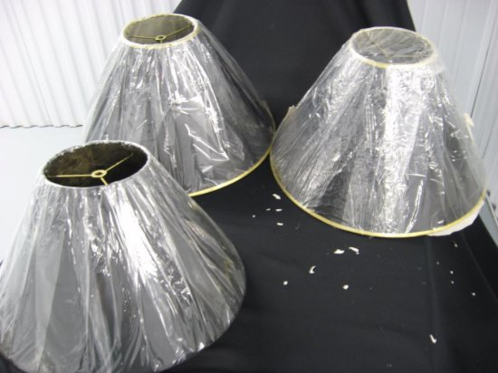 3 lamp shades item 226-228