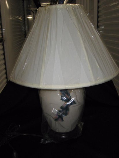 Porcelain lamp with shade item 216