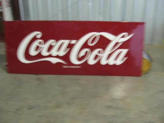 "Vintage Coke Sign 108"" x 40"""