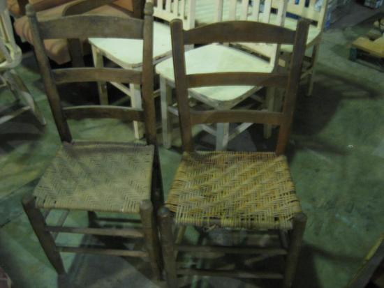 2 Cane bottom chairs