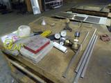 Misc. parts for laser machine & 2 tables-