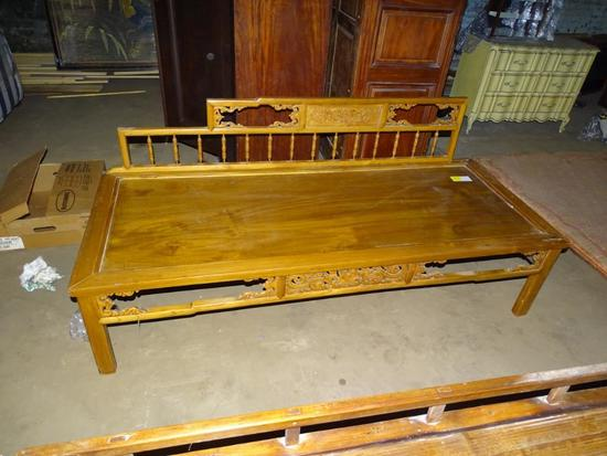 "Chinese Day Bed: 76"" long, 31"" wide, 19'' tall"