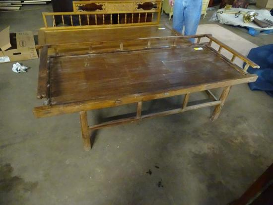 "Chinese Day Bed: 73"" long, 31"" wide, 19"" tall"