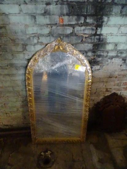 "Gold gilded Frame Mirror-48"" tall, 26"" wide"