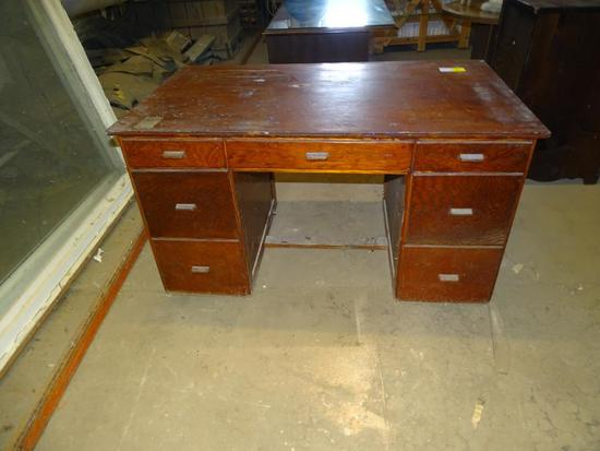 "Wooden Desk-56"" long, 32"" wide, 31"" tall"
