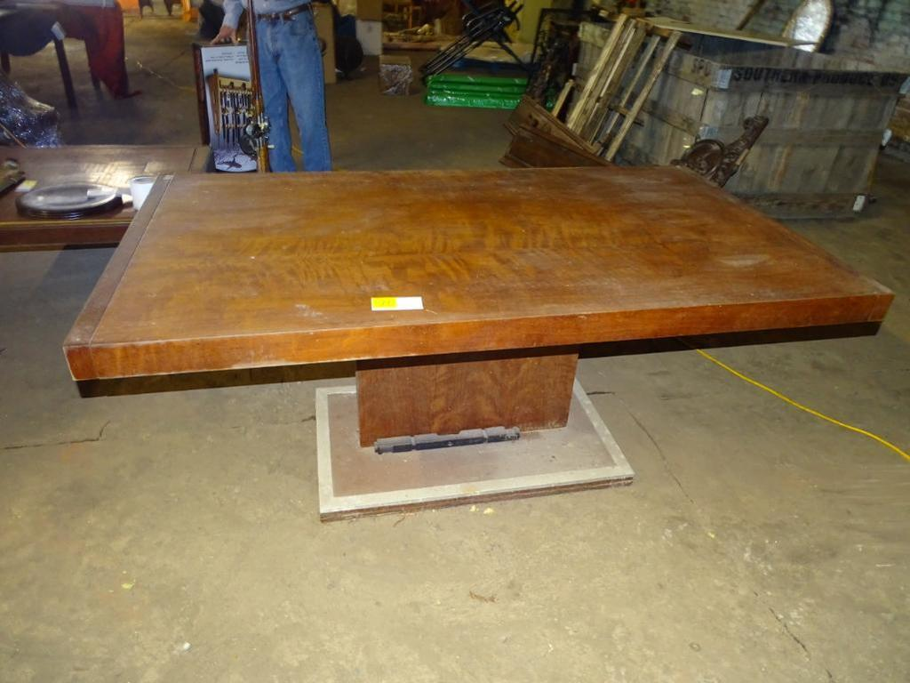 """Table-68"""" long, 38"""" wide, 30"""" tall"""