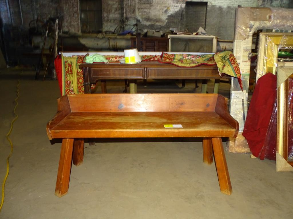 """Antique Wooden Bench-44"""" long, 16"""" wide, 16"""" tall"""
