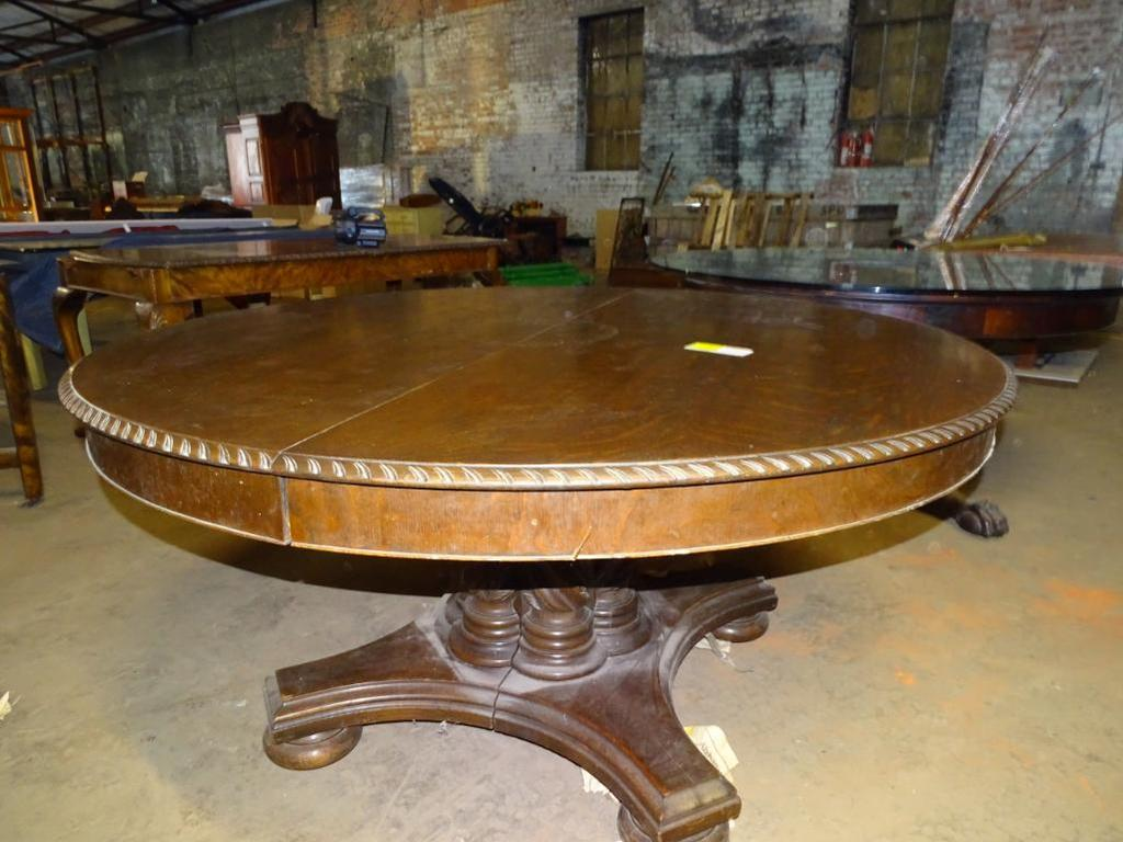 "Round table-60"" diameter, 29"" high"